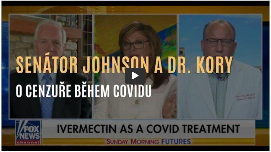 Senátor Johnson a dr. Pierre Kory o zdrcujícím dopadu cenzury během covidu