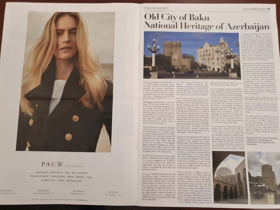 The Holland Times publikuje článek o Starém městě Baku