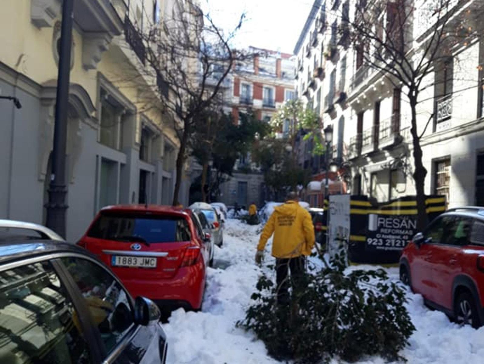dobrovolní duchovní Scientologické církve Madrid se pustili do odklízení sněhu, ledu a trosek z místních ulic, aby v sousedství zpřístupnili ulice pro lidi, kteří se naléhavě potřebují dostat do neprůchodných částí města